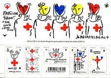 France 2016 MNH Red Cross JC De Castelbajac 5v M/S Health Medical Stamps