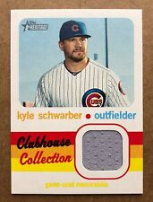 2020 Topps Heritage Clubhouse Collection Relics Kyle Schwarber #CCRKS