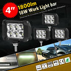 4x Pods LED Work Light SPOT Lights For Truck Off Road Tractor 12V 24V Square