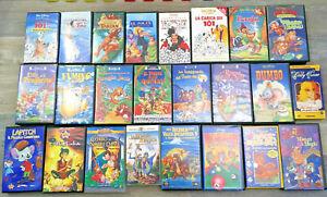 LOTTO 57 VHS MISTE WALT DISNEY FILM CARTONI ANIMATI VARIO GENERE