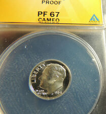 1964 ANACS Proof 67 Cameo Roosevelt~~Free Shipping~~Nice Cameo, Mirrors & Strike