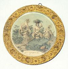 Ancienne gravure erotique curiosa d'époque Napoleon III , Cadre bronze dore 1840