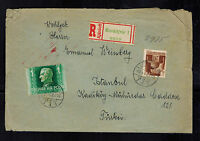 1943 Ersekujvar Hungary Registered cover to Turkey Emmanuel Weinberg Judaica