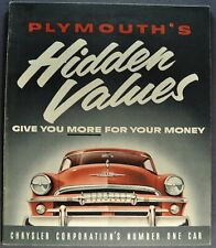 Picture Ref. #67561 Factory Photo 1954 Plymouth P25 Belvedere Suburban