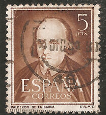 "Spain Stamp - Scott #772/A204 5c Brown ""Pedro Calderon de la Barca"" Used/LH 1951"