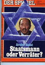 """""""Der Spiegel"""" Nr 49 von 1977, Titel - Araber Sadat - Staatsmann oder Verräter?"""