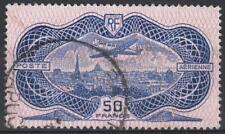 "FRANCE AERIEN 15 "" AVION CAUDRON SIMOUN 50F BURELAGE ROSE 1936"" OBLITERE TB M143"