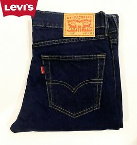 LEVIS 511 Men's Jeans Original Riveted Slim Fit Dark Wash Indigo Denim Gift