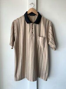 Yves Saint Laurent Mens Vintage Polo Shirt Silk Knit