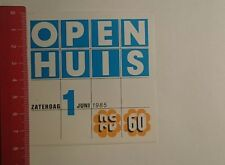 Aufkleber/Sticker: Open Huis Zaterdag 1985 (271216123)