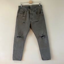 Levi's 501ct ripped jeans heavy duty denim fabric 32/32