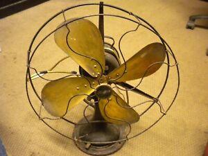"Antique vtg 1920's? Brass Blade Electric Fan Century S3C-16"" MODEL 263 WORKING"