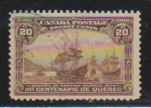 A8199: Canada #103 Used, VF-XF, Sound; CV