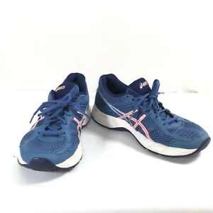 Women's ASICS Gel Contend 4 T765N Blue/ White Running Walking Workout Shoe Sz 8