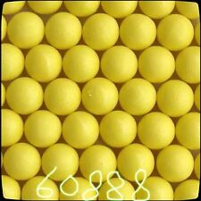 100 - New .68 cal Reusable Rubber Training Balls Paintballs (Yellow)