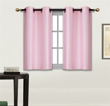 """1 Set Grommets Window Curtain Silky Panel Insulated Blackout 30""""x36"""" (D24)"""