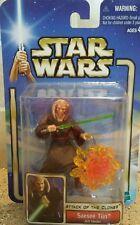 "2002 Star Wars Attack of the Clones "" Saesee Tiin "" Jedi Master NIP / SW25"