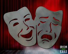 Theater Masks Metal Comedy Tragedy Happy Sad Wall Art Room Decor Movie Director