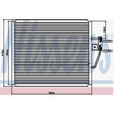 Kondensator Klimaanlage - Nissens 94529