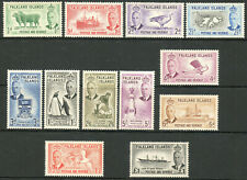 Falkland Islands 1952 KGVI complete set of mint stamps to £1  Lightly Hinged