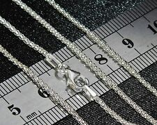 STERLING SILVER (925) 18 inch LADIES POPCORN CHAIN 2.6g - 2mm - Strong & Durable