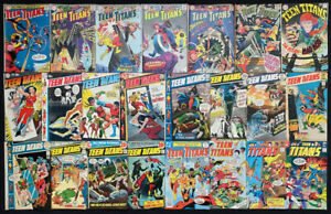 Teen Titans #4-52 range; comic lot of 23 (DC 1966) Silver / Bronze Age Avg. VG/F