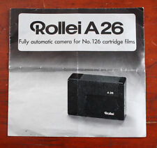 ROLLEI A26 CAMERA SALES BROCHURE, 1974/130385