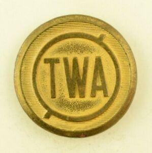 1930's-40's TWA Trans World Airline Coat Uniform Button Authentic Original B3