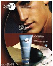 PUBLICITE ADVERTISING 095  2004   LANCOME les soins cosmétiques homme