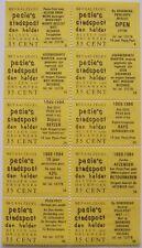 Stadspost Den Helder 1983 - Velletje v. 10 betaalzegels met diverse teksten 5-46
