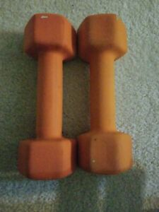 Cap Neoprene Dumbbell Weights 8 LB Lot of 2 16 LB Total