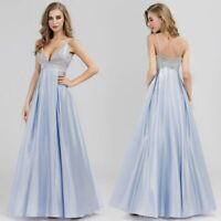 Ever-Pretty US Long Spaghetti V-neck A-Line Holiday Gown Evening Dresses 07899
