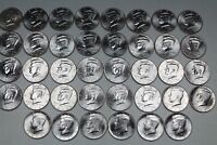 2000 - 2018 Kennedy Half Dollar. Brilliant Uncirculated  Mint Roll Set