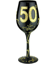 50th Lady Party Wine Glass