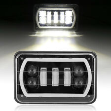 "4""X6"" LED Cree Light Bulbs DRL Crystal Clear Sealed Beam Head Lamp Headlight"