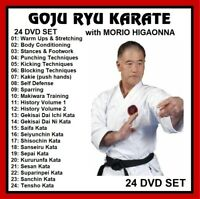 GOJU RYU KARATE 24 DVD SET like karate kid cobra kai kenpo panther productions