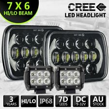 Pair HILUX LED UPGRADE HEAD LIGHT 5X7INCH HEADLIGHT REPLACEMENT HI/LO + 4''INCH