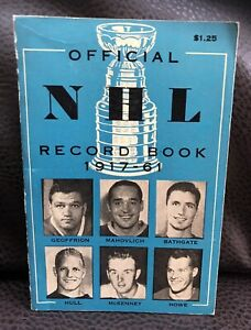 Official NHL Record Book 1917-61 (353 pages ).Unopened.staples Rusty, Vg