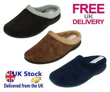 Ladies Slippers Mules Black Brown Navy Cushioned Indoor Shoes Sizes 3 4 5 6 7 8