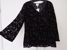 New with tags ladies EAST Velvet Floral effect long sleeve Top size 14, RRP £149