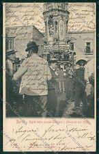 Napoli Barra Processione Giglio Carabinieri cartolina EE7713