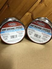 Lot Of 2 Lincoln Electric Ed031448 Mig Welding Wire,Nr-211-Mp .030� Spool
