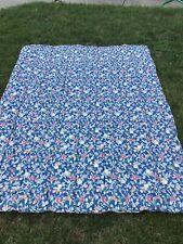 Ralph Lauren Twin Size Blue Floral Comforter Bedding