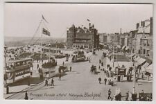 Lancashire postcard - Princess Parade and Hotel Metropole, Blackpool - RP