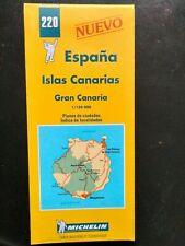 CARTE MAP MICHELIN N°220 ILES CANARIES GRAN CANARIA 1999 - NEUVE - LAS PALMAS