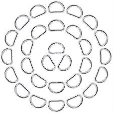 eBoot 50 Pack Metal D Ring, 1 Inch