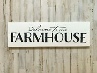 Farmhouse Wood Sign | Welcome To Our Farmhouse | Farmhouse Home Decor | Welcome