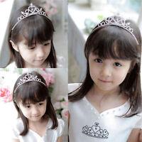 Hot Girl's Rhinestone Crystal Tiara Hair Band Kid Bridal Princess Crown Headband