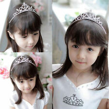 New Girls Rhinestone Crystal Tiara Hair Band Kid Bridal Princess Crown Headband