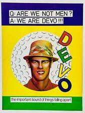 DEVO 1978 vintage POSTER ADVERT Q ARE WE NOT MEN